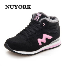 NUYORK 2017 plus Cashmere heat Casual sneakers insole out of doors winter ladies's sneakers Short boots fitne spherical toe snow cotton sneakers