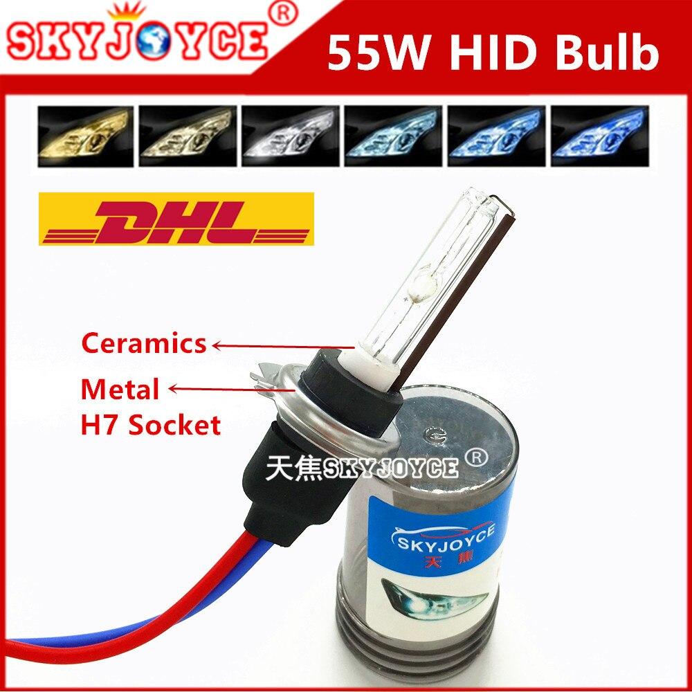 20Х 55W Ксеноновые HID лампы H7 металлическое основание керамическое H7T 3000К 4300К 5000К 6000К 8000k ксенона H7 спрятал автомобиль свет для замены Сид галоида H7