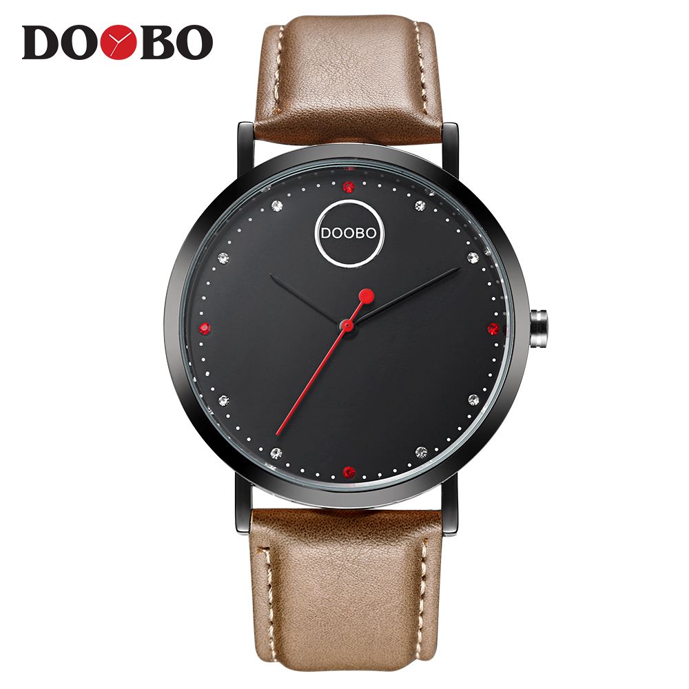 DOOBO Top Brand Analog Quartz Watch Men Waterproof Fashion Casual Sports Watches Man Leather Wristwatches Relogio Masculino 2017 new top fashion time limited relogio masculino mans watches sale sport watch blacl waterproof case quartz man wristwatches