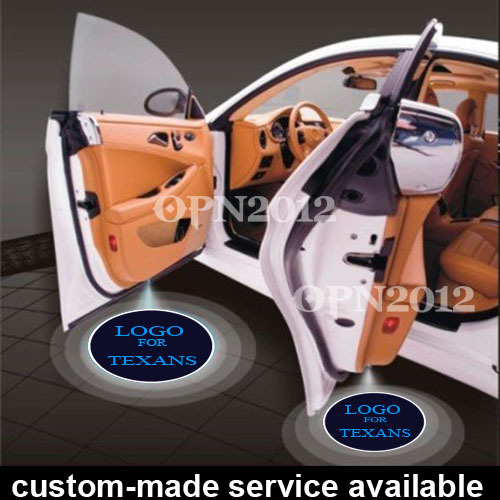 ФОТО Pair Car LED Laser Projector Door Ghost Shadow Step Courtesy Logo Light For Houston Texans Rugby Football NFL #1186