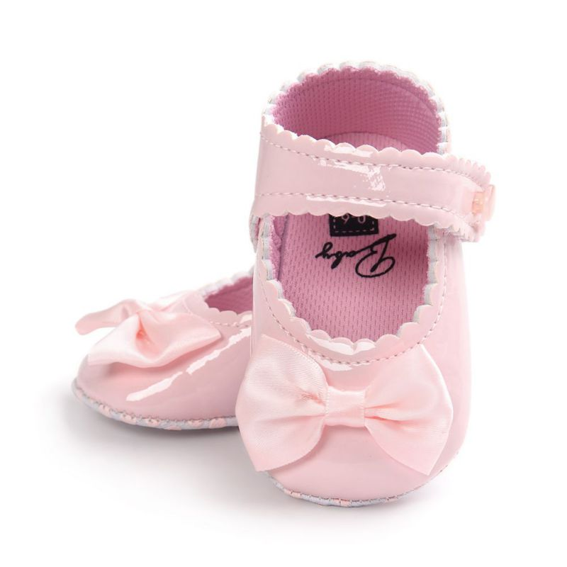 Baby Shoes Soft Soled PU Leather Crib Shoes Bowknot Footwear First Walkers CY1