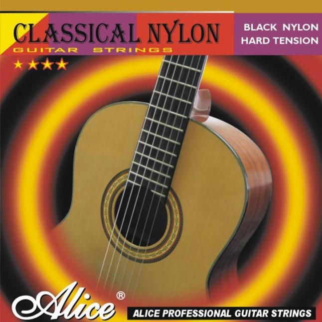 Classical Guitar Strings Set / ALICE 0285-044 Series Black Nylon Music Wire 6pcs/set for ur choice alice a704 senior performance violin strings set