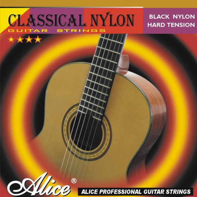 Classical Guitar Strings Set / ALICE 0285-044 Series Black Nylon Music Wire 6pcs/set for ur choice