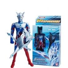 Novo anime japonês ultraman dyna figura de ação transformação 13 articulações móveis ultraman modelo crianças brinquedos com arma w033