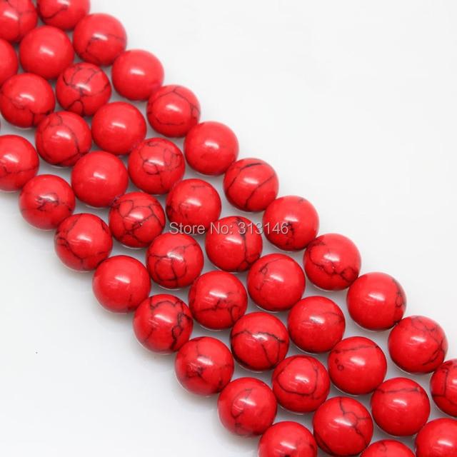 733b24b844a5 € 0.98 6% de DESCUENTO|Venta al por mayor Natural rojo turquesa suelta  perlas capítulo de piedra para la joyería de la pulsera del collar que hace  ...