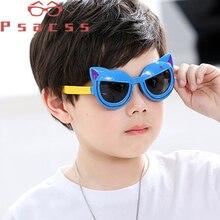 Psacss NEW Polarized Sunglasses Kids Boys Girls Vintage Silicone Frame Sun Glasses Childrens Cute Sunglass UV400 Gafas Infantil