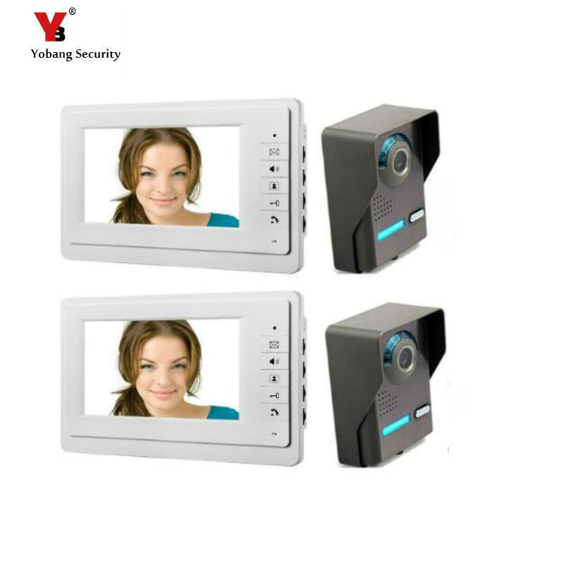 Yobang Security freeship 7Home Security Camera Wired Video Intercom doorbell Indoor Unit Outdoor and Unit Camera video doorbell