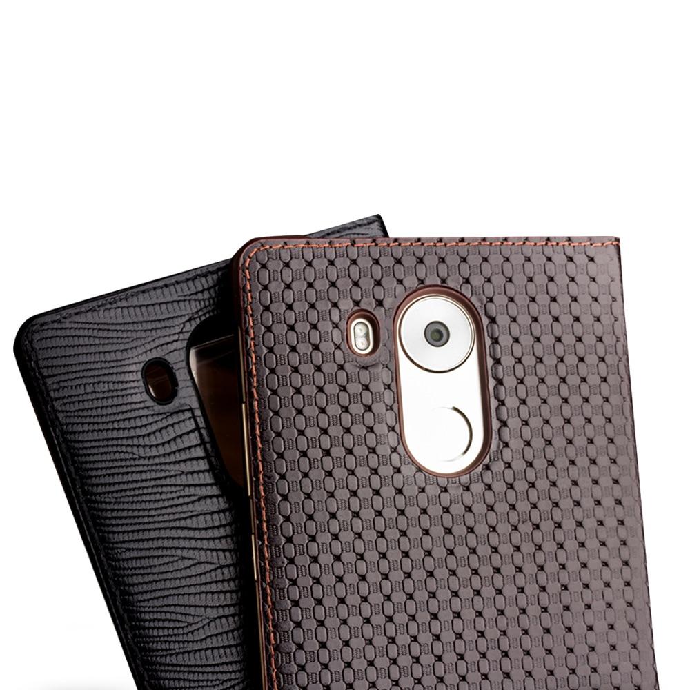 QIALINO Huawei Ascend Mate 8 Väska Mode Mönster Äkta läderfodral - Reservdelar och tillbehör för mobiltelefoner - Foto 3
