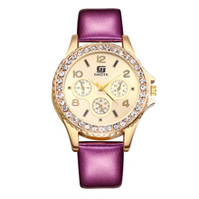 2019 new listing ladies watch leather exquisite rhinestone luxury casual quartz Relojes Mujer
