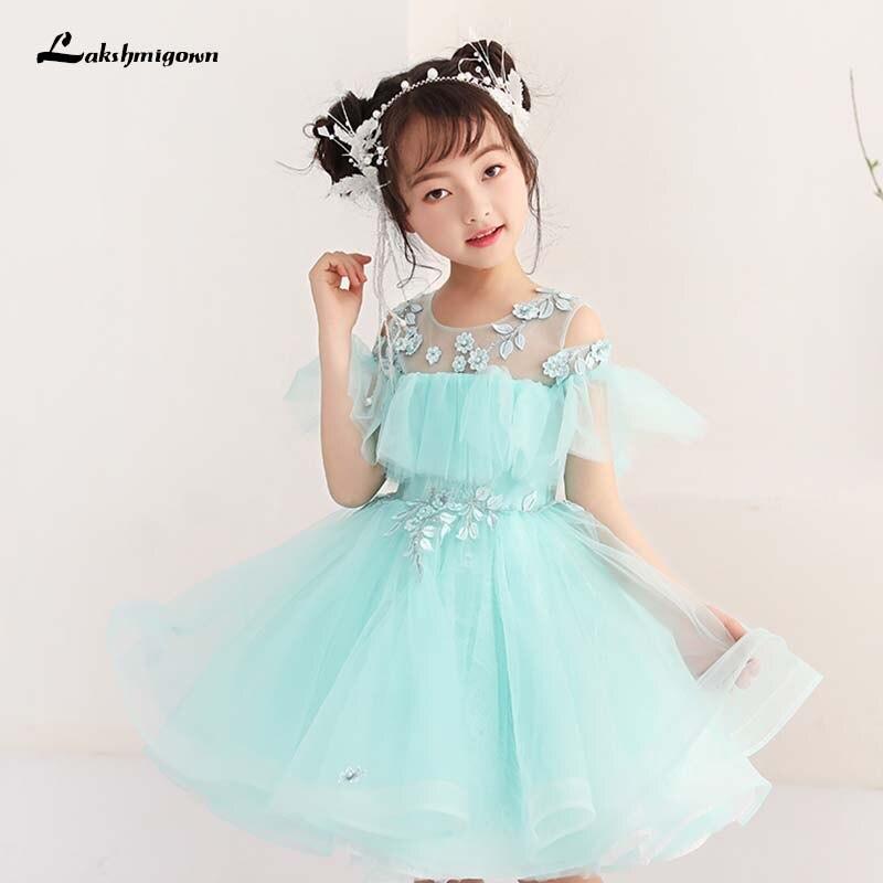 Mint Green Kids Ball Gown Flower Girl Dress 2018 First Communion ...