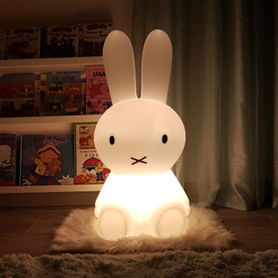 BEIAIDI 50CM Cute Rabbit ED Night Light Dimmable Children Baby Kids Bedside Table Lamp Toy's Gift Light for Birthday Chrimstmas beiaidi 50cm cute rabbit led night light cartoon animal bedroom desk table lamp baby kids children sleeping light best christmas