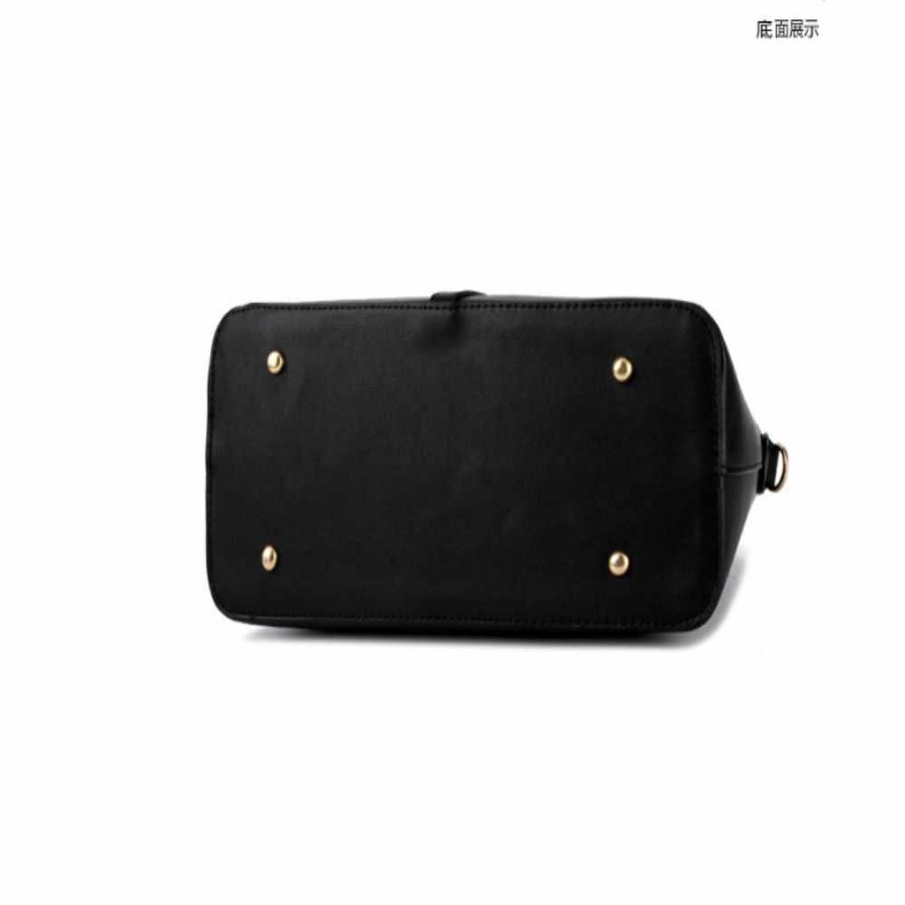 KLY 100% Hakiki deri Kadın çanta 2019 Yeni Paragraf gelgit MS kadın çantası büyük çanta basit omuz çantası çanta Messenger çanta