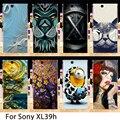 Casos de telefone Para Sony Xperia Z Ultra XL39H XL39 C6802 C6833 C6806 6.44 polegada Casos Rígido de Volta Cobre A Pele Habitação Bainha Capô sacos
