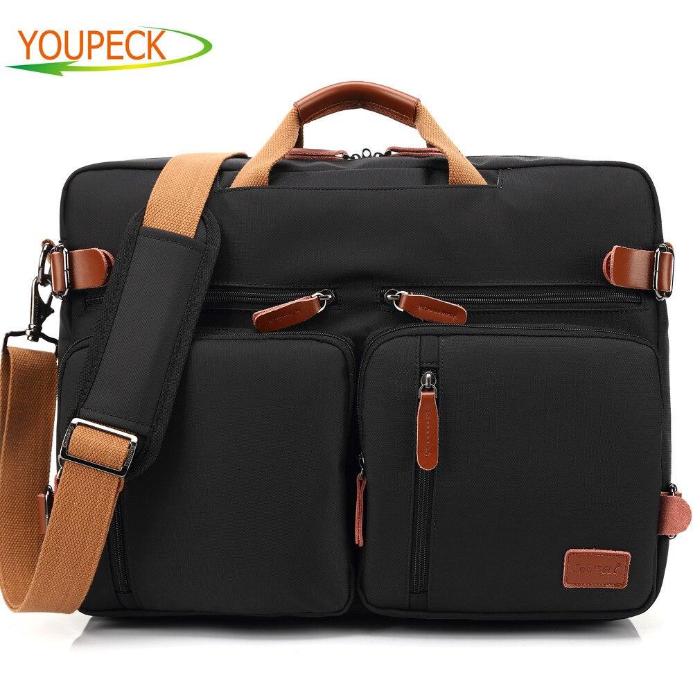 Convertible Backpack Laptop bag 15.6 15 17 17.3 inch notebook bags shoulder Messenger Bag Laptop Case Handbag Business Rucksack jacodel 17 inch laptop backpack convertible handbag shoulder bag waterproof messenger bag 15 6 17 inch laptop bag case briefcase