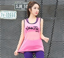 women Sports Vests female Tank Tops Fitness yoga very light Sleeveless Vest Dry Quick breathable Loose Gym running vests
