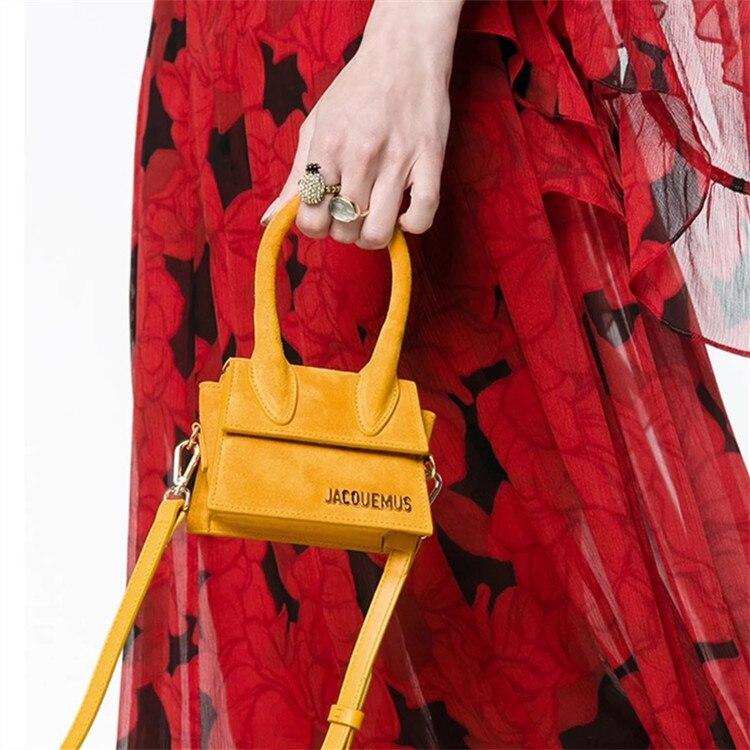 Image 5 - Small Totes Big handle Designer shoulder handbag Square Women  Crossbody bags Female Removable shoulder strap clutch bagTop-Handle  Bags