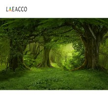 Laeacco Forest Backdrops Green Jungle Tree Grass Mystery Way Party Natural View Photographic Photocall Photo Studio