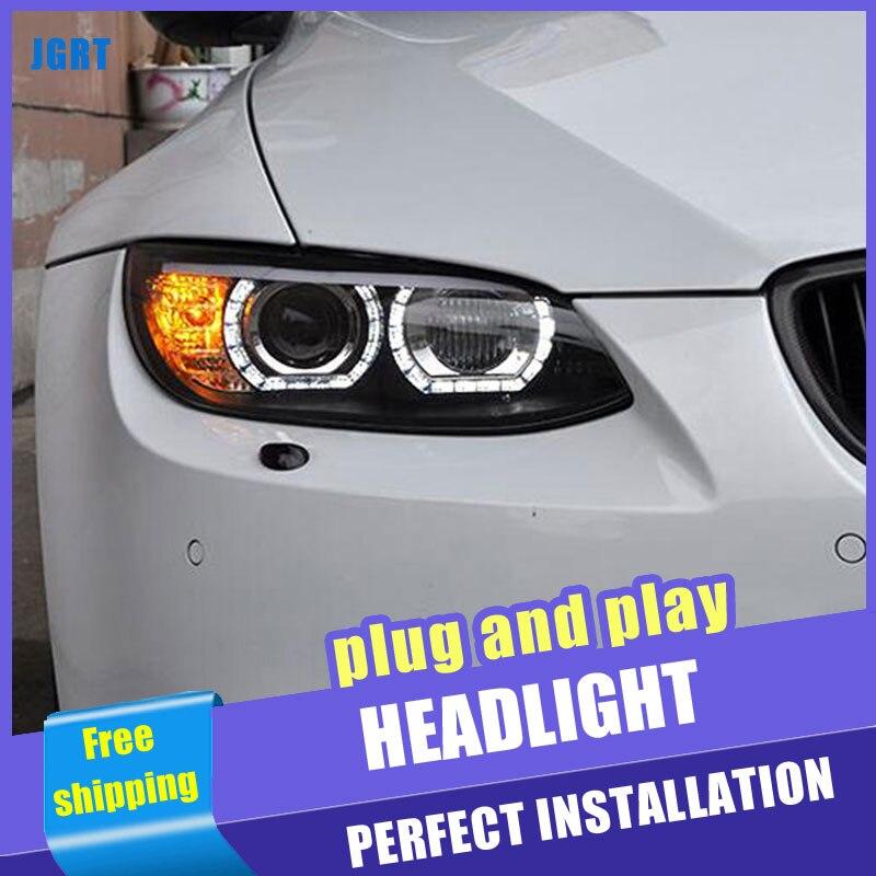 2PCS Car Style LED headlights for BMW M3 e92 e93 2008 2013 for M3 head lamp LED DRL Lens Double Beam H7 HID Xenon bi xenon lens - 3