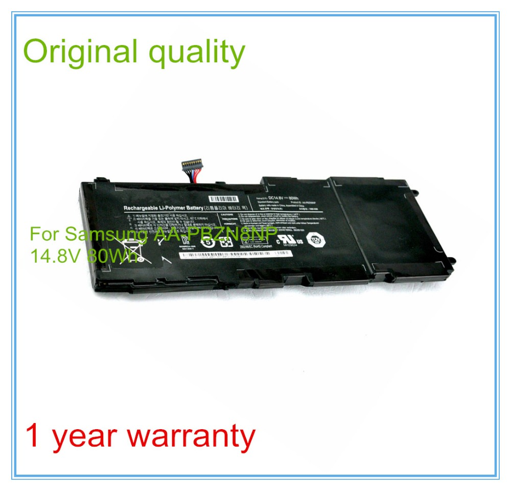 14.8V 80WH New Original Laptop Battery AA-PBZN8NP For  NP-700 series Rechargeable Replacement Batteries Free shipping 3 75v 9000mah new original laptop battery for yoga 10 tablet b8000 10 battery l13d3e31 l13c3e31 batteries free shipping