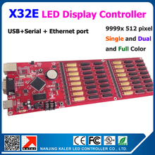 X32E 512*9999 pixel signle dual full color scrolling text led display controller card support multi-language dynamic border