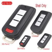 Wymiana Keyecu Inteligentny Zdalny Klucz Shell Case 2/2 + 1/3/3 + 1 Przycisk dla Mitsubishi Outlander Lancer Eclipse Galant (tylko powłoki)