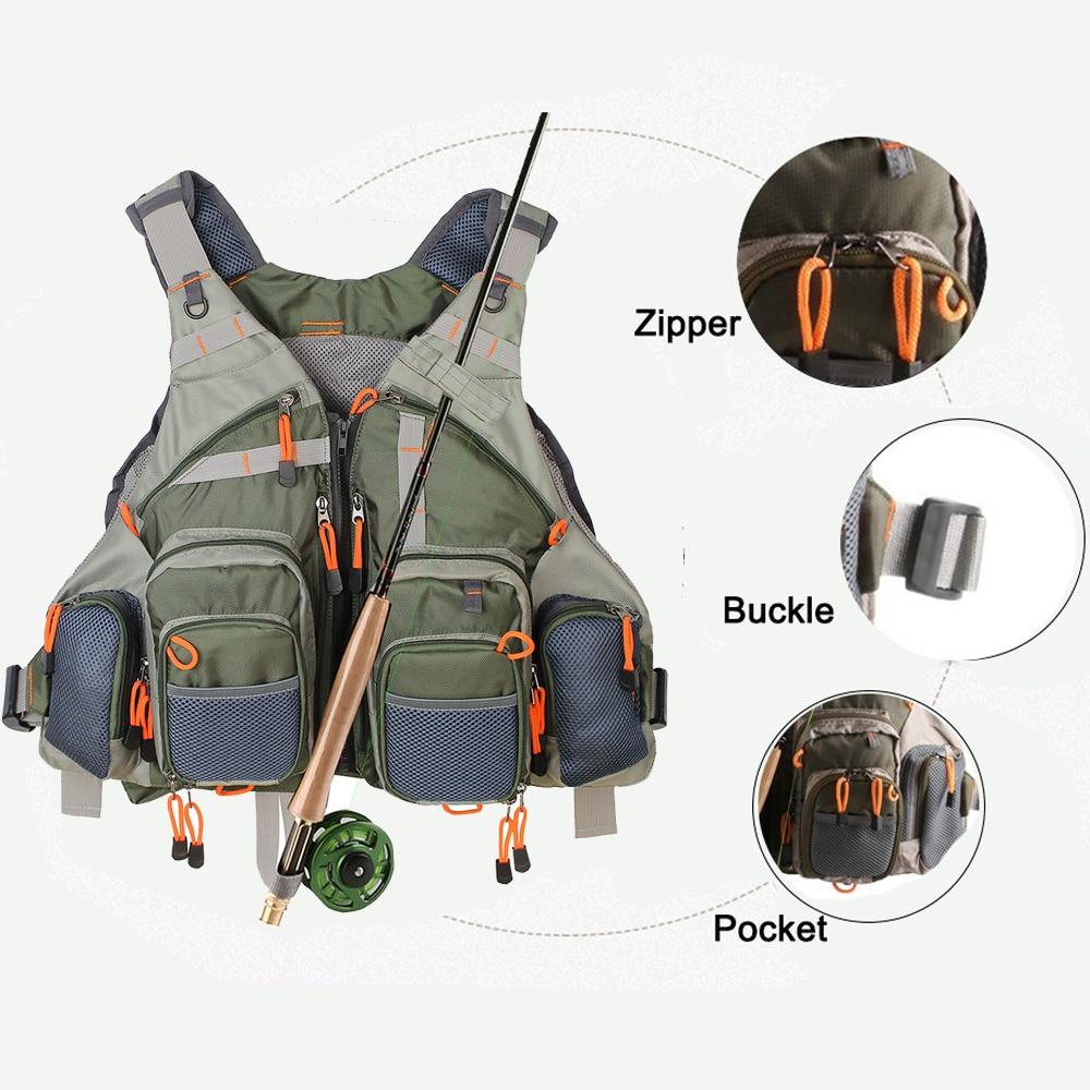 Unisex  Hunting Vest  Fly Fishing Mesh Vest Multifunction Pockets Fishing Vest Outdoor Sports Backpack Fishing  bag outdoor sports pockets sv012199