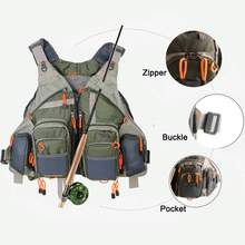 Top Qulity Mesh Fly Fishing hunting Vest Fishing Back Multifunction Pockets Fishing Backpack Vest outdoor bag