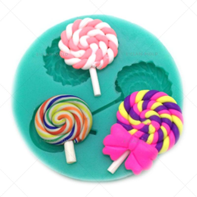 Új Lollipop cupcake fondant formák torta díszítő szerszámok Cukrászda csokoládé penész szerszám gyanta penész sütés F0633BB35