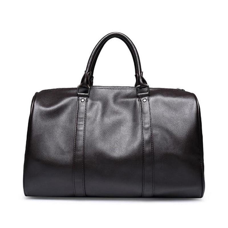 Ringad pingvin mode läder mäns rese väska bagage väska manar bär - Väskor för bagage och resor - Foto 3