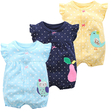 Baby Girl Romper Summer Cartoon Newborn Jumpsuit Cotton Short Infant Clothes One-pieces Jumpsuits Clothing