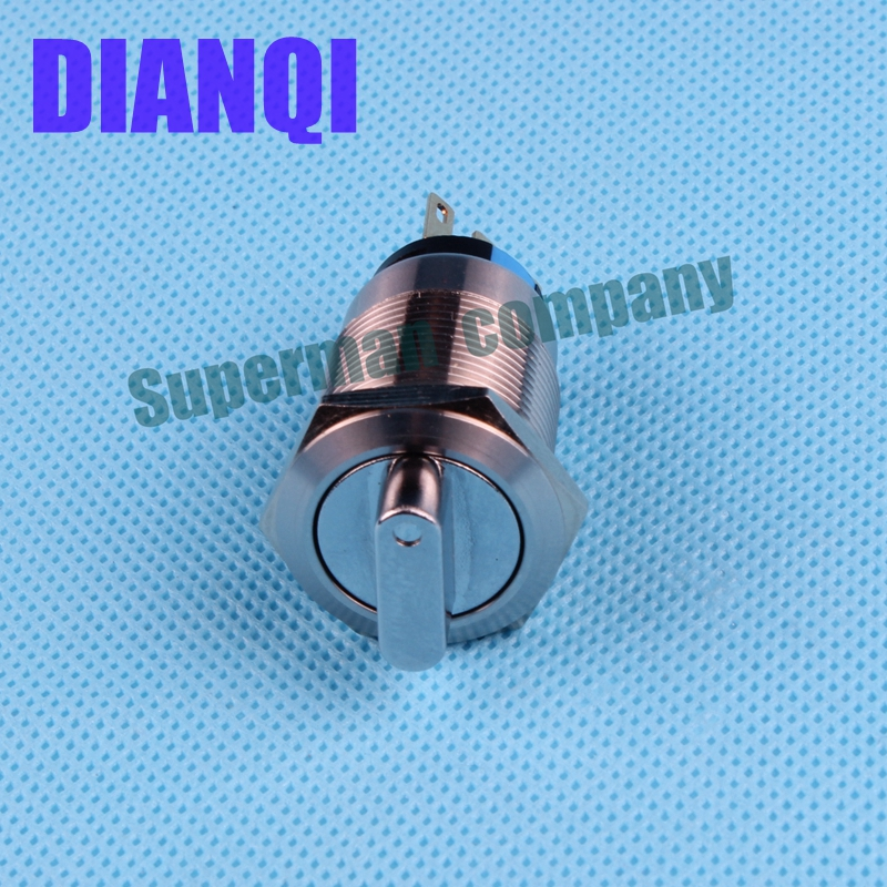 19mm metal  rotary push button brass latching 3 position Switch Press Button rotary 2NO 2NC Rotate button rotation 19XN,3D.2K2B 660v ui 10a ith 8 terminals rotary cam universal changeover combination switch