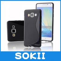 ForS Line Silicon Soft TPU Case Skin Cover For Samsung Galaxy A8 A8000 Cover For Samsung