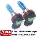 2 x H11 PGJ19-2 12V 6000K 100W Super White Auto Car HOD Halogen Bulbs Lamps Headlight Bulbs for skoda lada kai hyundai opel