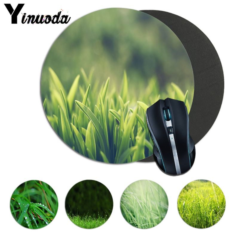 Yinuoda High Quality Green Grass Soft Rubber Professional Gaming Mouse Pad Computer laptope Notbook Mouse mat Gaming Mouse Pad