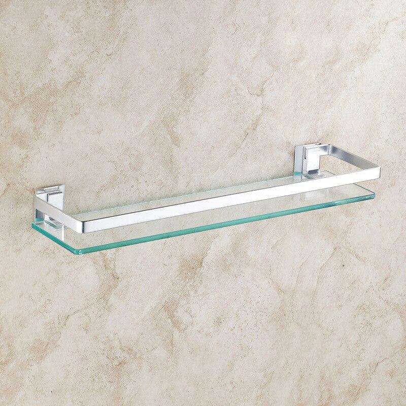 bathroom shelves toughened glass bathroom rack super stainless steel ...