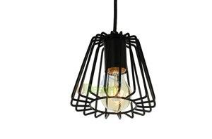 Frete grátis RH568 sótão Retro vintage de Metal pintura gaiola pingente lâmpada de iluminação|pendant light lamp|loft vintagelamp style -