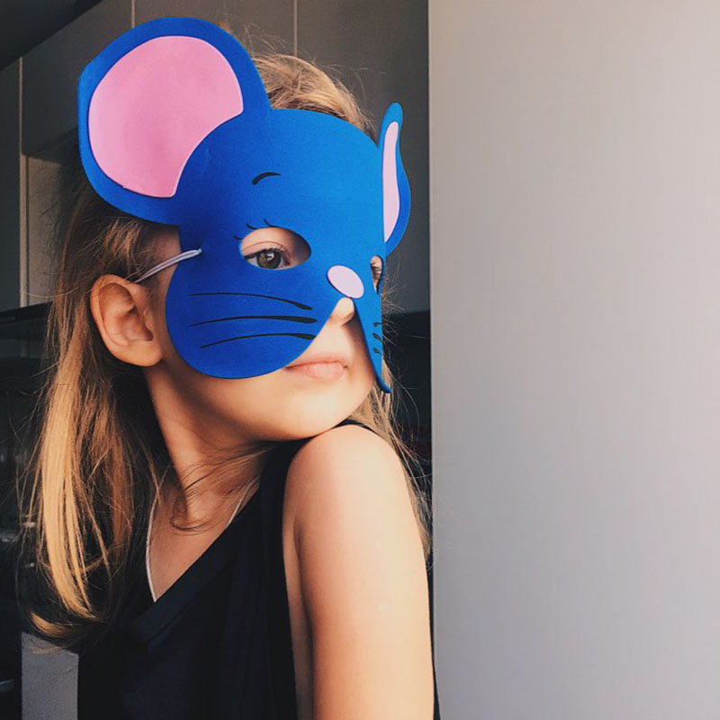 Image 4 - High Quality 12 pcs/lot New Fashion Handmade Children's Mask Animal Shape For Kids Party Decoration Mask Random Mixed-in Party Masks from Home & Garden