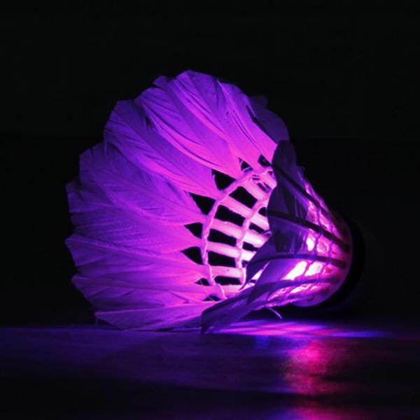 Tracking Number LED Badminton High Quality 2 PCs LED Badminton Federball Licht Creative font b Entertainment