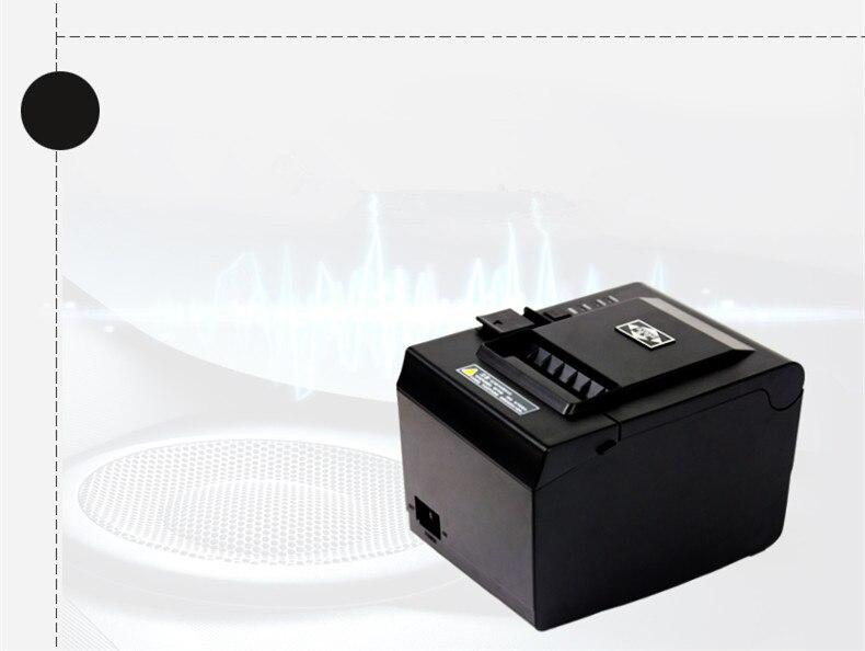 POS imprimante 80mm imprimante thermique réception Petit billet code à barres USB + port série + réseau port automatique de coupe Imprimante 260 mm/s