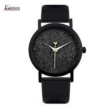 Dames cadeau nouveau style montre Enmex creative design bonne nuit ciel étoilé simple brève visage bande de cuir quartz de mode montre-bracelet