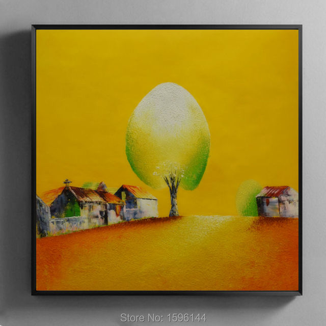 Oil Painting Canvas Abstract Hand painted Wall art Picture Animation ...