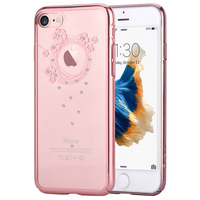 DEVIA For IPhone 8 7 Cover Case Crystals From Swarovski Flower Floral Diamond Plating Hard Phone