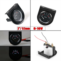 Accessory Voltmeter Voltage Gauge Mechanical 1pc Car Automatic LED 8~16V Tool Parts Shell White Durable Useful