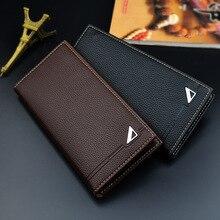 2018 nieuwe stijl portemonnee lange portemonnee voor mannen merk visitekaarthouder geldzakje mannelijke cluch portefeuilles 3198-3