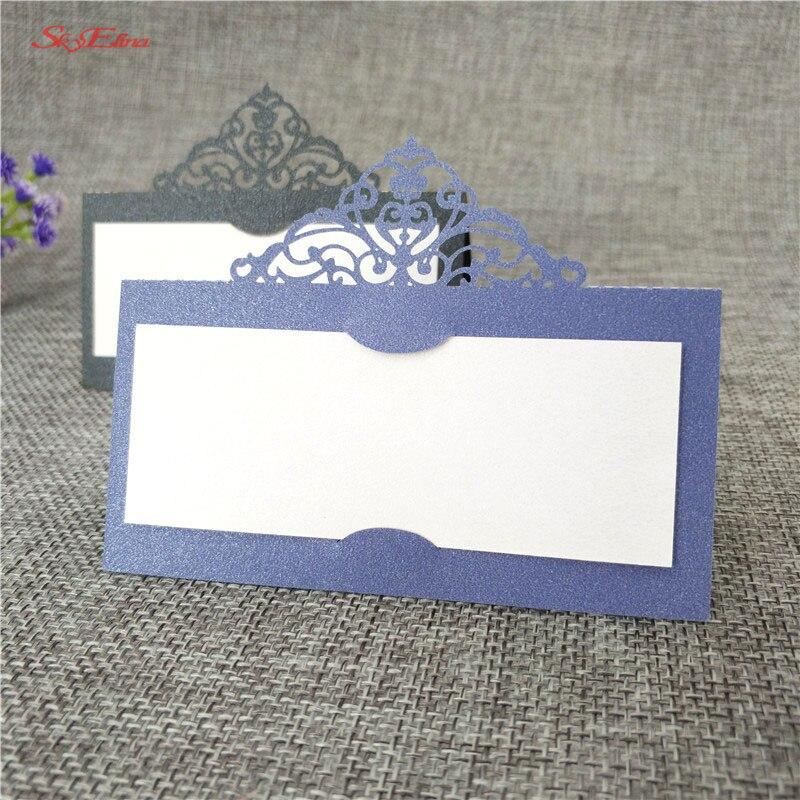 10 Pcs Laser Cut Wedding Party Tafel Naam Plaats Kaarten Naam Kaarten Parelmoer Bericht Instelling Kaart Bruiloft Verjaardag 6zsh873
