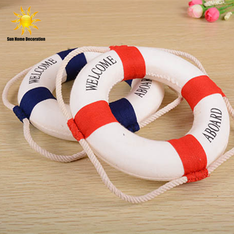 Foam <font><b>Home</b></font> <font><b>Decor</b></font> <font><b>Nautical</b></font> Decorative Lifebuoy Life Ring Wall Hanging Showcase Holiday decorations Crafts free shipping