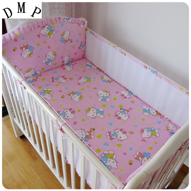 Promotion! 5PCS mesh girl baby bedding set bumper bed sheet crib Cot Bedding Baby Set,include:(4bumper+sheet)Promotion! 5PCS mesh girl baby bedding set bumper bed sheet crib Cot Bedding Baby Set,include:(4bumper+sheet)