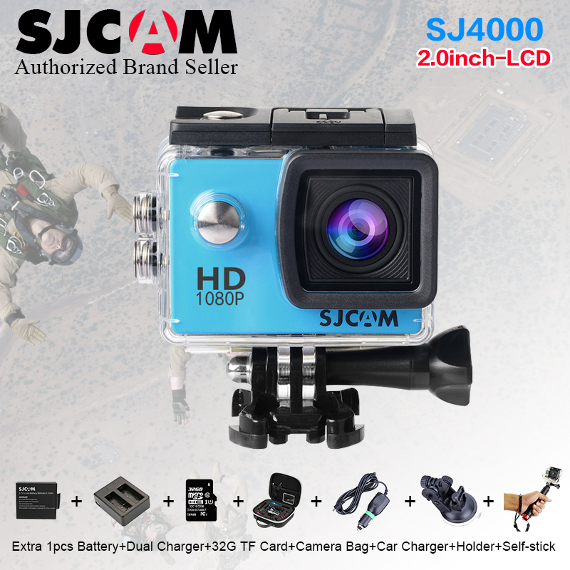 Original SJ4000 SJCAM Extreme Action Helmet Sport Camera 1080P SJ 4000 Diving 30M Waterproof mini DVR Full HD DV Action Camera sj4000 wifi full hd 1080p camera sport 2 0 lcd sj 4000 helmet cam go waterproof camera pro style sport dv mini camera sport