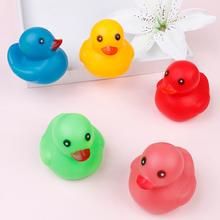 Baby Bathroom Water Pool Funny Toys Kawaii Mini Colorful Rubber Float Squeaky Sound Duck Bath Toy for Girls Boys Gifts 5pcs(China)