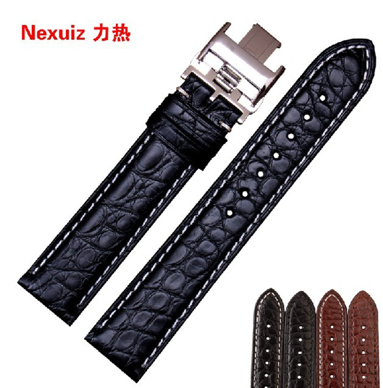 Alligator Leather Watchbands High Quality Customized designer for brand watches men Ladies watch Accessories 18mm 19mm 20mm 21mm все цены